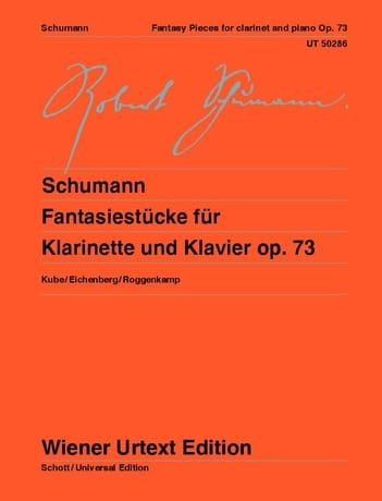 SCHUMANN - Fantasiestücke, op. 73 - Clarinet and piano - Partition - di-arezzo.com