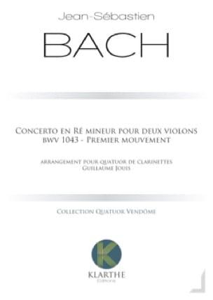 Concerto en ré mineur, BWV 1043 - 4 Clarinettes - laflutedepan.com