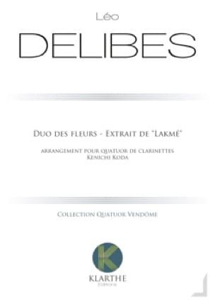 Duo des Fleurs - 4 Clarinettes - DELIBES - laflutedepan.com