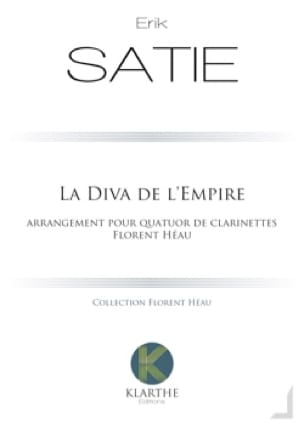 La Diva de l'Empire - 4 Clarinettes - SATIE - laflutedepan.com
