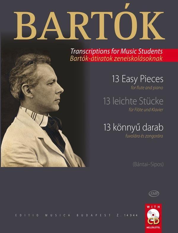 BARTOK - 13 piezas fáciles: flauta y piano - Partition - di-arezzo.es