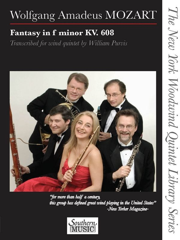 MOZART - Fantasy in F minor, KV 608 - Woodwind quintet - Partition - di-arezzo.co.uk