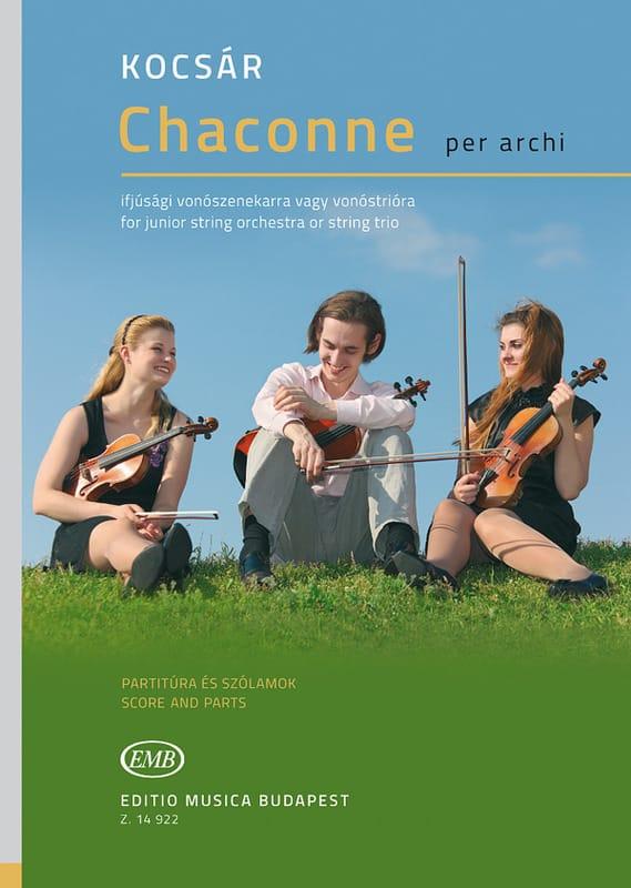 Chaconne - Trio à cordes - Miklos Kocsar - laflutedepan.com