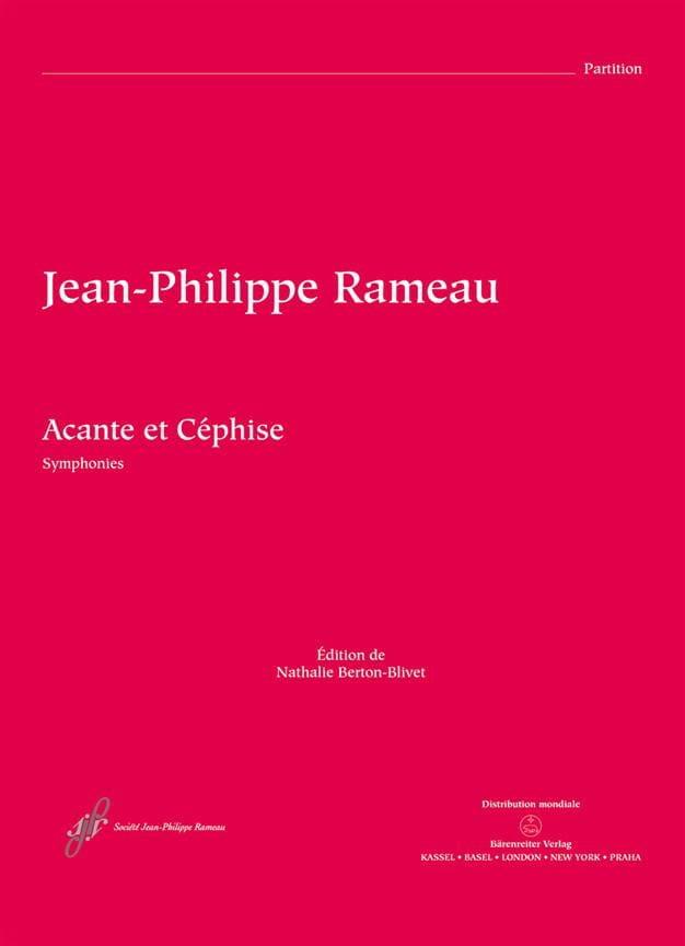 Acante et Céphise, Symphonies - Conducteur - RAMEAU - laflutedepan.com