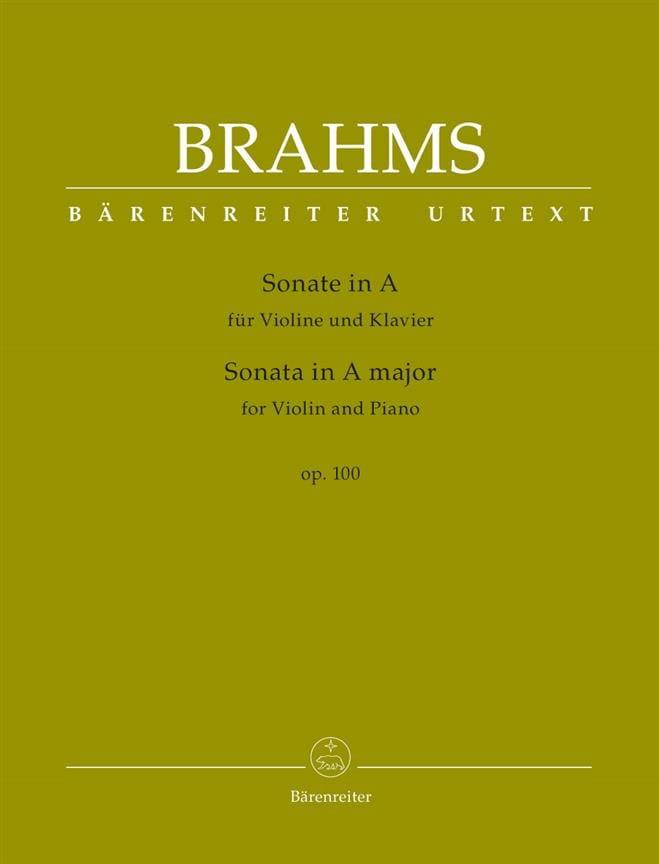 Sonate en La Majeur, op. 100 - Violon et piano - laflutedepan.com