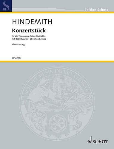 Paul Hindemith - Konzertstück - Clarinet and piano - Partition - di-arezzo.com