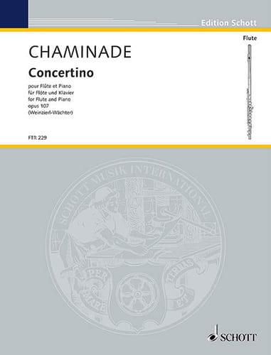 Cécile Chaminade - Concertino, op. 107 - Flute and piano - Partition - di-arezzo.co.uk
