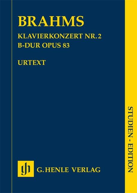 Concerto pour piano n° 2 - Conducteur - BRAHMS - laflutedepan.com