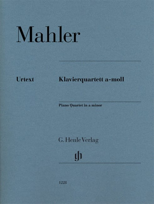 Gustav Mahler - Quartet for strings and piano in A minor - Partition - di-arezzo.co.uk