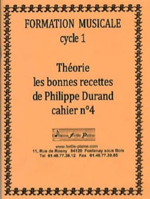 Philippe Durand - Theory, The Good Recipes, Volume 4 - Partition - di-arezzo.co.uk