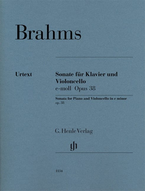 BRAHMS - Sonate en mi mineur, op. 38 - Violoncelle et piano - Partition - di-arezzo.fr