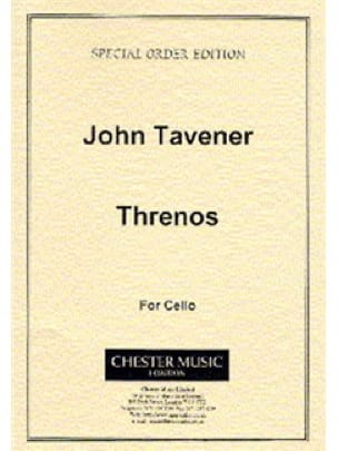 Threnos - John Tavener - Partition - Violoncelle - laflutedepan.com