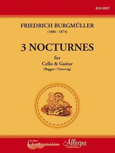 3 Nocturnes - Violoncelle et Guitare - laflutedepan.com