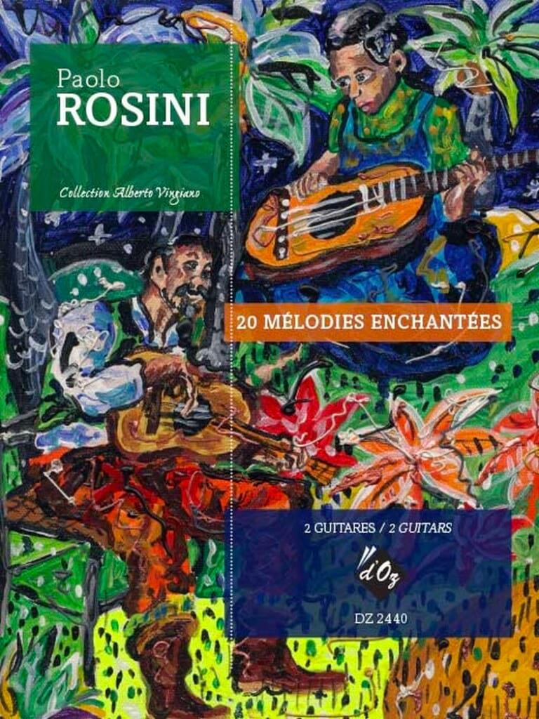20 Mélodies Enchantées - 2 Guitares - Paolo Rosini - laflutedepan.com