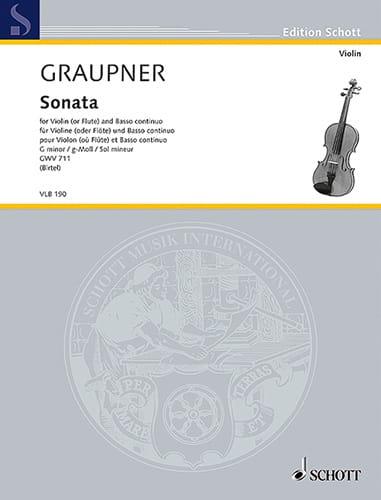 Sonate en sol mineur - Violon et BC - laflutedepan.com