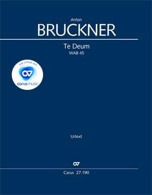 Anton Bruckner - Te Deum, Wab 45 - Conducteur - Partition - di-arezzo.fr