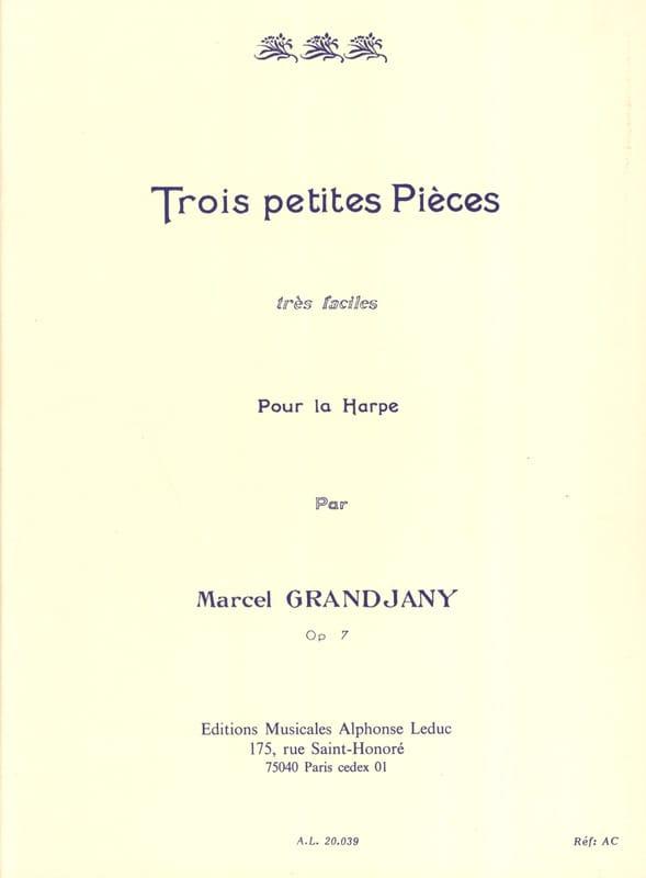 Marcel Grandjany - 3 Petites pièces très faciles op. 7 - Partition - di-arezzo.fr
