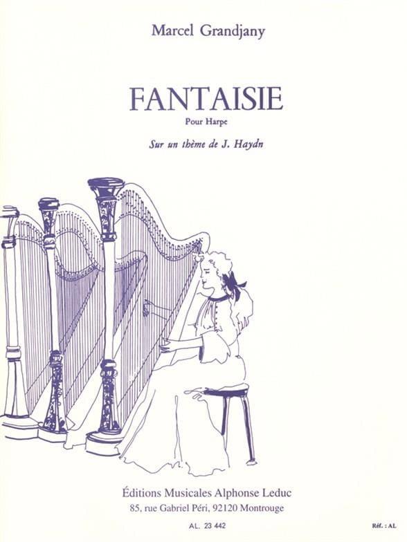 Marcel Grandjany - Fantaisie - Partition - di-arezzo.fr