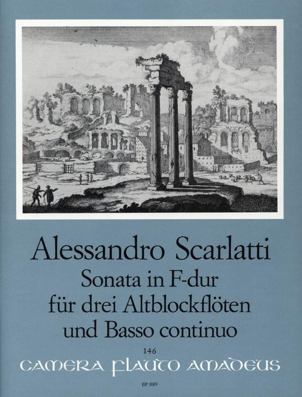 Sonata in F-dur - Alessandro Scarlatti - Partition - laflutedepan.com