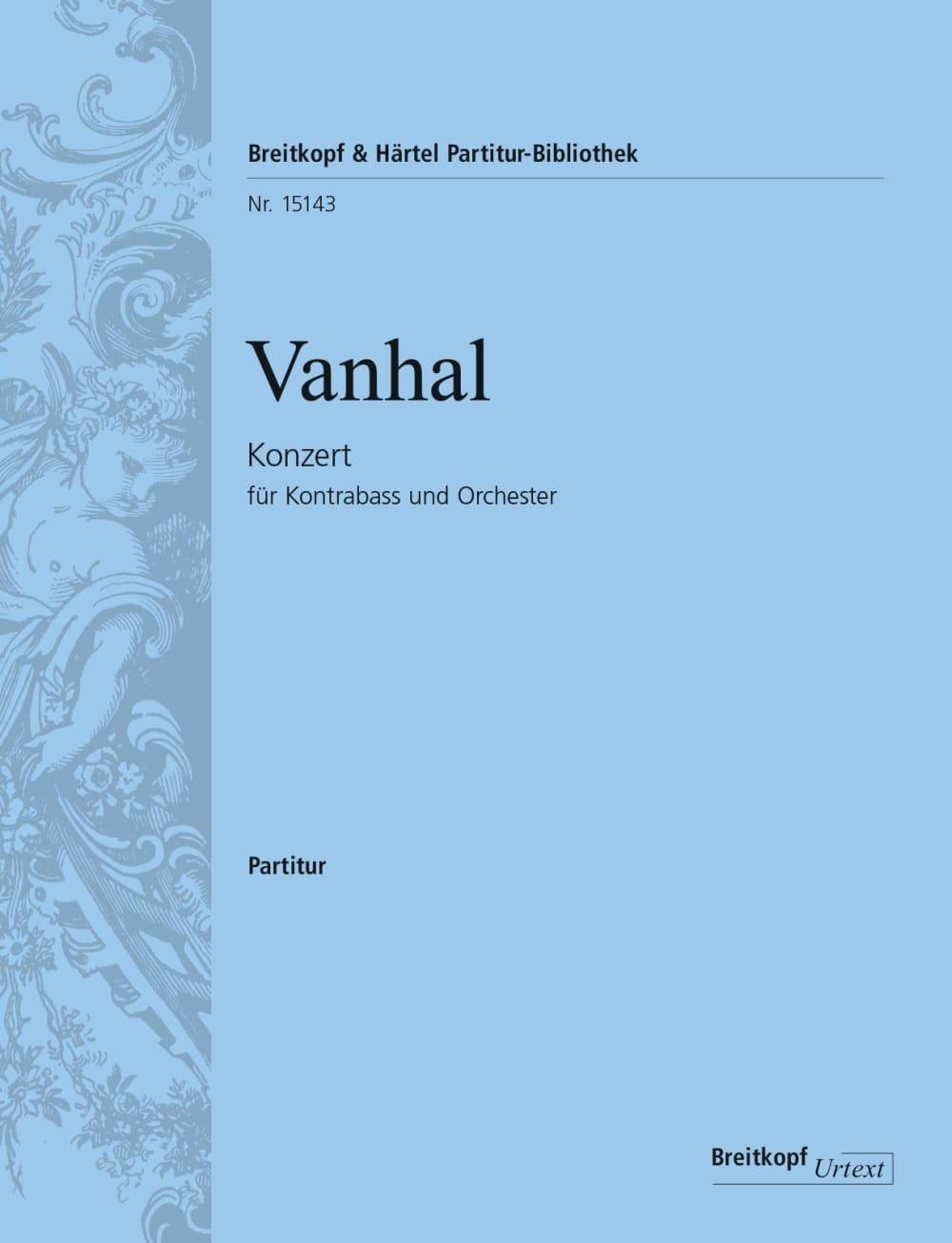 Concerto pour contrebasse - Conducteur - laflutedepan.com