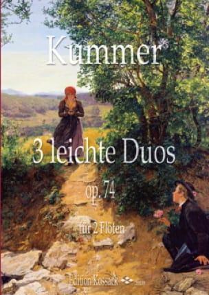 3 Leichte Duos, op. 74 - 2 Flûtes - Gaspard Kummer - laflutedepan.com