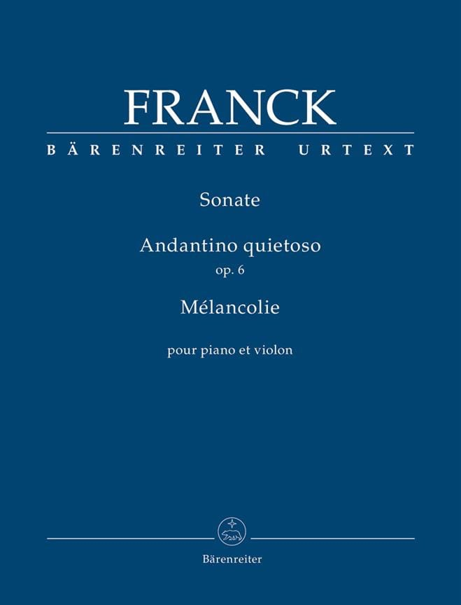 César Franck - Sonate / Andantino quietoso / Melancholy - Violin and piano - Partition - di-arezzo.co.uk
