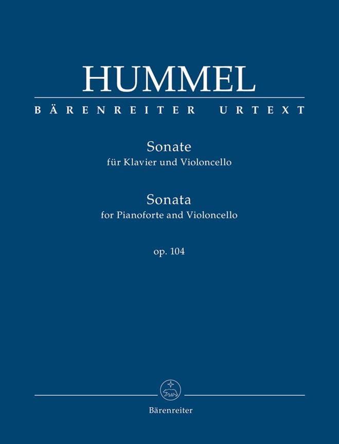 Sonate, op. 104 - Violoncelle et piano - HUMMEL - laflutedepan.com