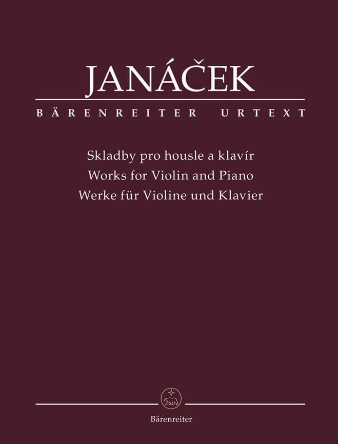 Leos Janacek - Trabaja para violín y piano - Partition - di-arezzo.es