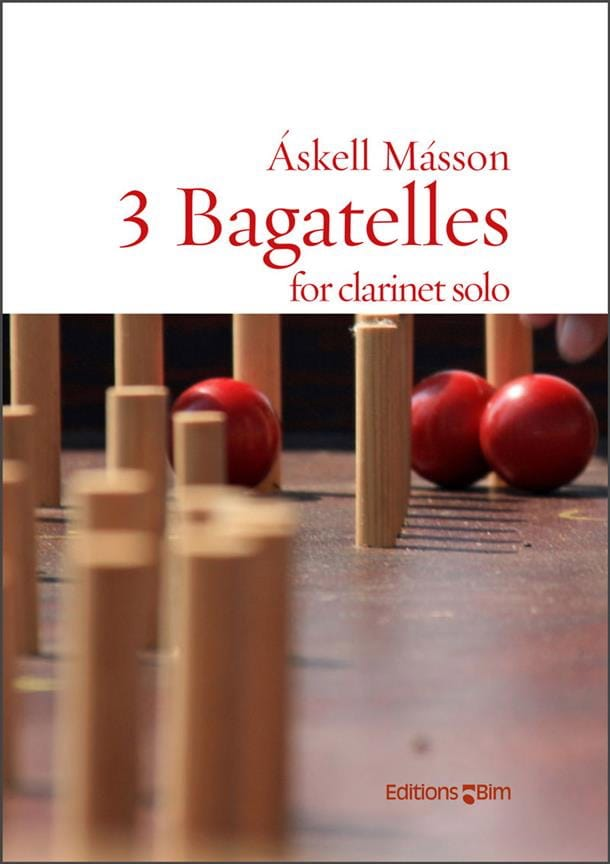 3 Bagatelles - Clarinette solo - Askell Masson - laflutedepan.com
