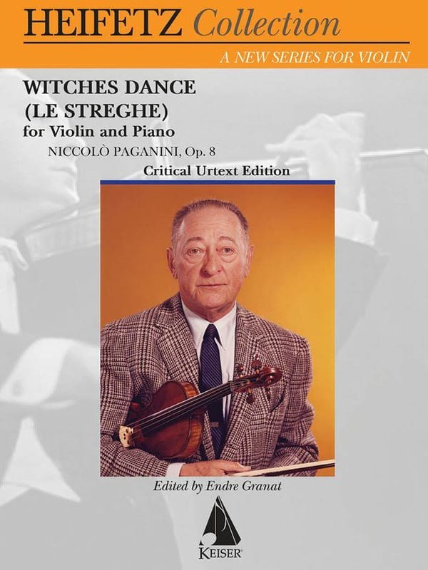 Witches Dance, op. 8 - Violon et piano - PAGANINI - laflutedepan.com