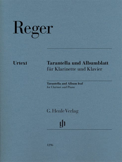 Max Reger - Tarantella / Albumblatt - Clarinet and piano - Partition - di-arezzo.co.uk