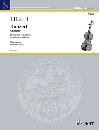 Concerto - Violon et piano - LIGETI - Partition - laflutedepan.com