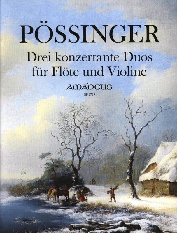 3 Konzertante Duos - Flûte et violon - laflutedepan.com
