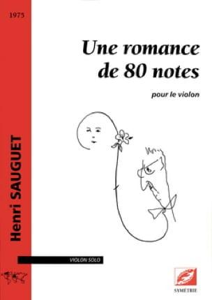 Une romance de 80 notes - Violon solo - laflutedepan.com