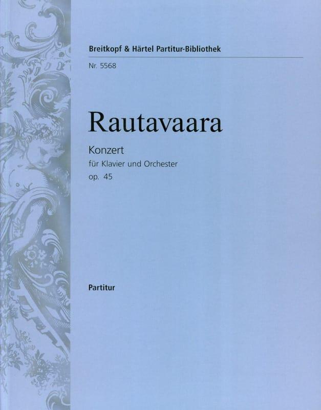 Concerto pour piano et Orch., op. 45 - Conducteur - laflutedepan.com