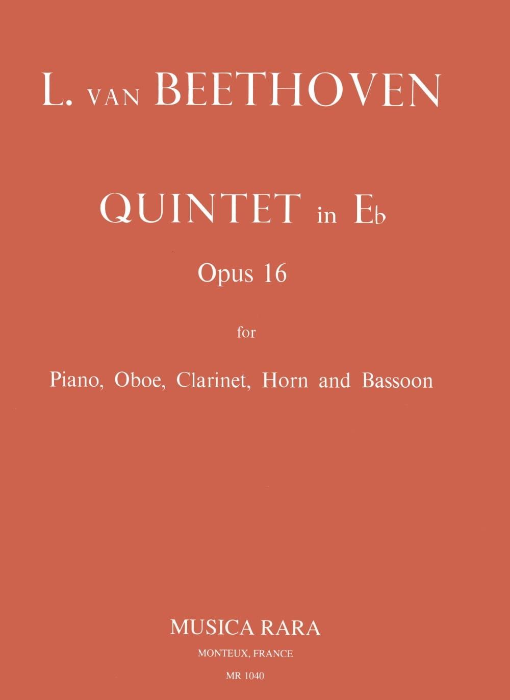 BEETHOVEN - Quinteto plano E, Opus 16 - Partition - di-arezzo.es