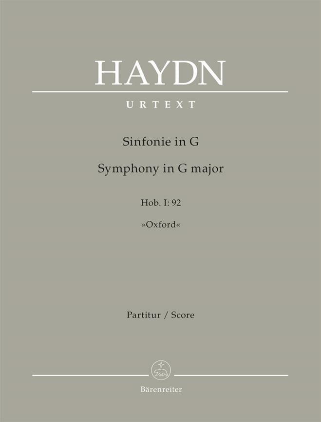 Symphonie n° 92 Oxford - Conducteur - HAYDN - laflutedepan.com