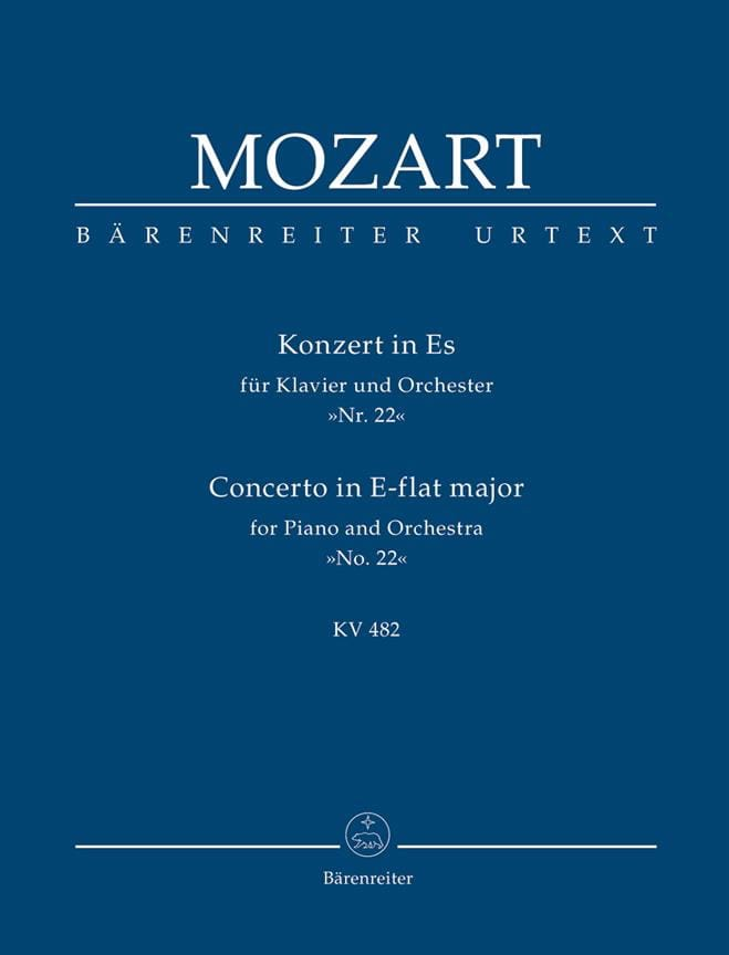 Klavierkonzert Nr. 22 Es-Dur KV 482 - Partitur - laflutedepan.com