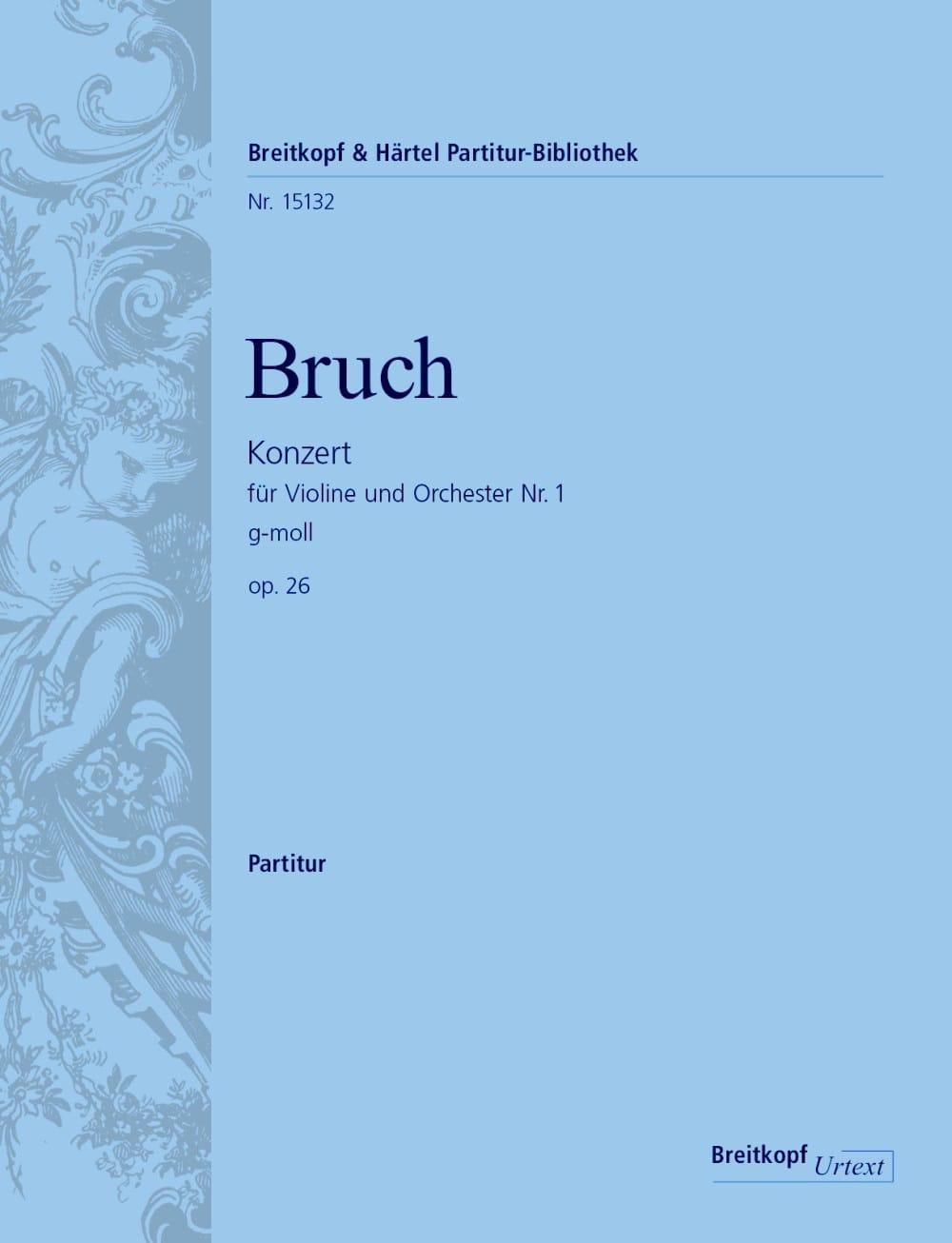 Concerto pour Violon n° 1 - Conducteur - BRUCH - laflutedepan.com