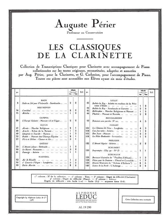 HAENDEL - Paso pequeño - clarinete - Partition - di-arezzo.es