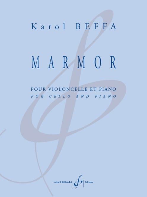 Marmor - Violoncelle et piano - Karol Beffa - laflutedepan.com