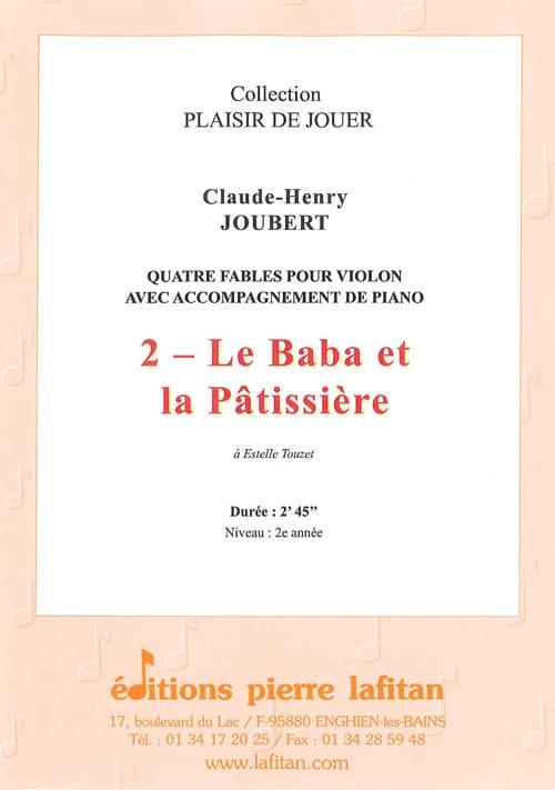 Le Baba et la patissière - Claude-Henry JOUBERT - laflutedepan.com