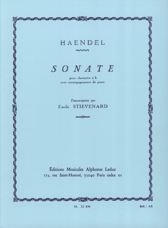 HAENDEL - Sonata - clarinet - Partition - di-arezzo.com