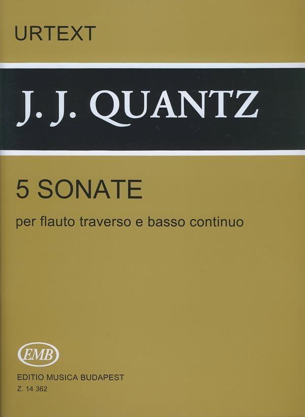 5 Sonates - Flûte et BC - QUANTZ - Partition - laflutedepan.com
