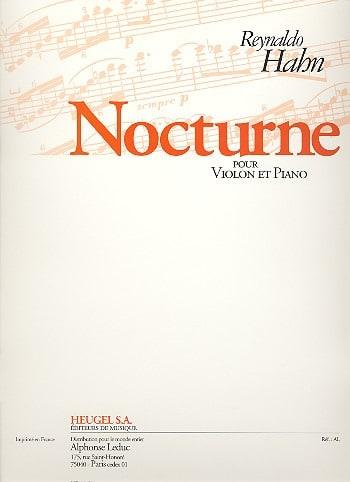 Reynaldo Hahn - Nocturne - Violin - Partition - di-arezzo.co.uk
