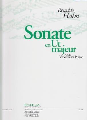 Sonate en ut majeur - Reynaldo Hahn - Partition - laflutedepan.com