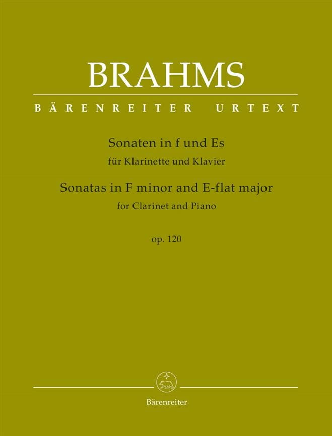 BRAHMS - 2 Sonatas for clarinet and piano, op. 120 - Partition - di-arezzo.com