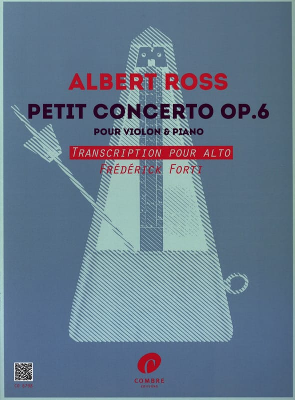 Petit Concerto, op. 6 - Alto et piano - Albert Ross - laflutedepan.com