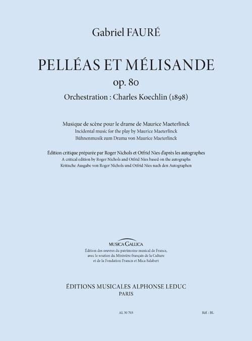 Pelléas et Mélisande, op. 80 - Conducteur - FAURÉ - laflutedepan.com