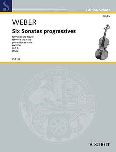6 Sonates progressives, vol. 2 - Violon et piano - laflutedepan.com